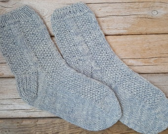 Hand Knitted Wool Socks -Wool Socks for Women - Size Medium,Large-US W9/EU40