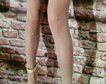 Sexy Crystallized Crystal Diamond Sheer Tights Pantyhose Stockings Hosiery Shining