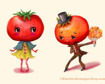 Impression d'Art Couple tomate