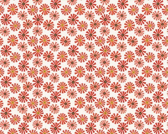Riley Blake Roots and Wings Collection - Daisy Red by Deena Rutter - 100% Cotton
