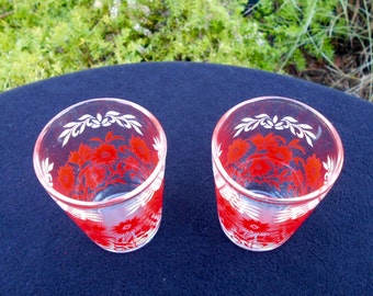 A Pair of French Juice Glasses