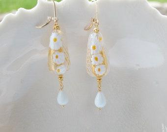 Murano Zanfirico Glass Earrings