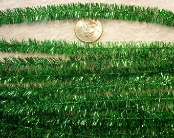 Vintage Green 12mm Metalic Chenille (12)