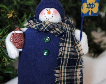 Notre Dame Fabric Snowman