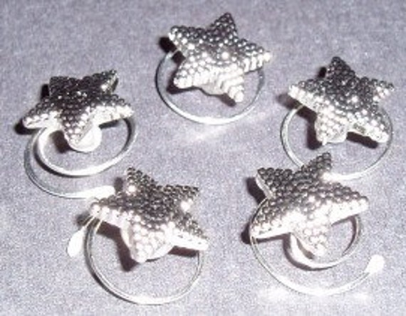 Costume Hair Accessory Tiny Silver Tone Stars for Your Hair Ballroom Dancing