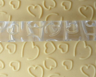 Creative clay hearts pattern roller
