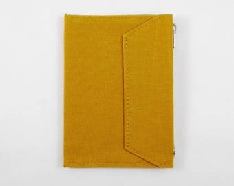 Mustard - Fourruof Fabric Traveler's Notebook Insert (Passport)