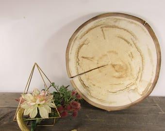 "SALE! 15"" Aspen Slice ~ Rustic Wedding Cake Stand ~  Large Wood Slab ~ Cake Stand ~ Summer Wedding ~ Garden Wedding ~ Cake Plate ~ Decor"