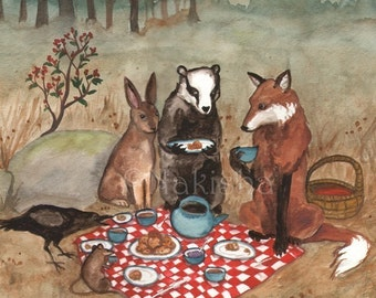 The Fox's Picnic -  Fine Art Print