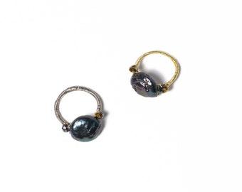 Round Multi-Colored Stone Ring