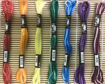 Embroidery Floss - Finca Moulin 100% Cotton - Variegated Rainbow