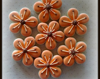 Flower Spring Daisy Decorated Sugar Cookies