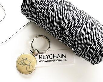 Bicycle keychain. Key chain for bike lovers. Bike lover gifts.