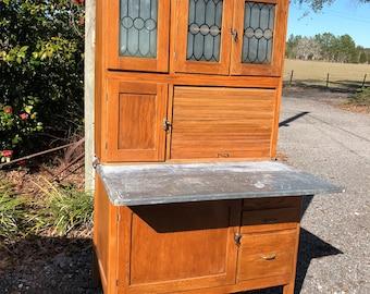Vintage  hoosier cabinet , kitchen cabinets, wood cabinet, kitchen furniture, hutch, china cabinet, bakers cabinet ,vintage kitchen,