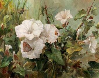 Super Giclée's of  Big flower paintings Bindweed