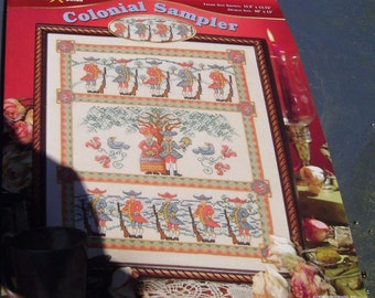 Colonial Sampler Cross Stitch Leaflet