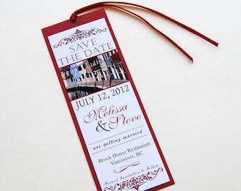 Destination Wedding Save the Date Bookmark - Burano, Italy
