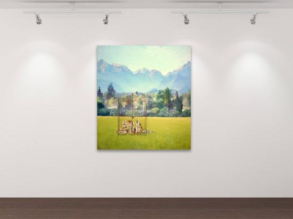 Die Zähmung der Wildnis - Kunstdruck Gemälde von Stephanie Oncken
