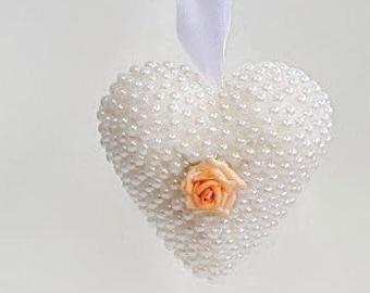Peach rose bridesmaid gift, flower girl gift, best friend gift, girlfriend gift, gift for her, wedding gift, anniversary gift