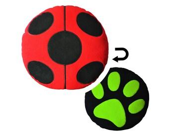 Miraculous Ladybug Reversible Designer Plush Pillow