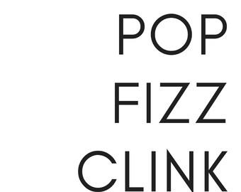 Bar Sign - Pop Fizz Clink!