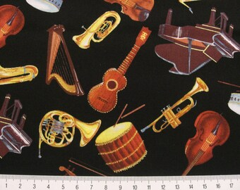 "0,5 m Printed cotton fabric ""Music"" 110 cm"