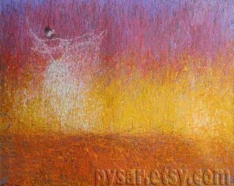 Abstract Ballet Print, Golden Wall Art Poster, Large Canvas Art Giclee Print, Dancer Gift