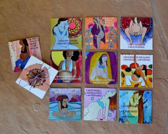 Mama Mantra Meditation Deck/ pregnancy/ birth/ meditation/ doula/ midwife/ blessingway gift/ blessingway/ gift for midwife