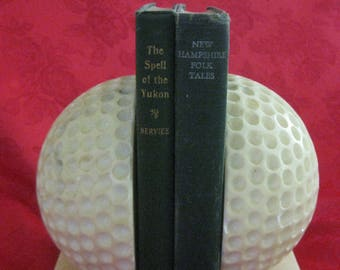 Vintage MARBLE Golf Ball Bookends