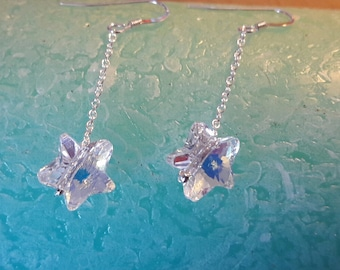 'Heavenly' 952/1000 Silver earrings Swarovski Crystal element crystals