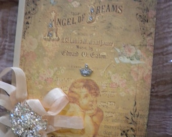 """Shabby Chic Altered Journal:  """"Angel of Dreams"""""""
