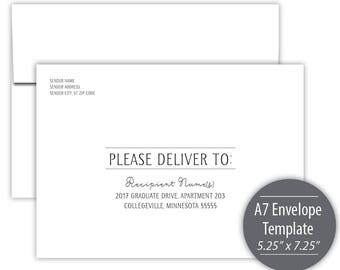 Fiesta A7 Envelope Template --- Instant Download --- Printable --- #C526-IE