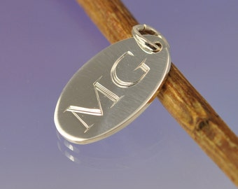 Personalised Initial Silver Charm.