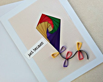 handmade iris fold all occasion or friendship card – just because