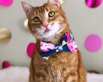 Lilly Pulitzer Inspired Puttin on the Ritz Bow Tie- Cats and Dogs