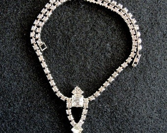 Vintage Rhinestone Choker. Dressy Choker, Wedding Or Bridal Choker