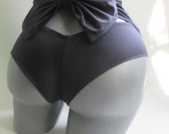 high waist sexy bikini bottoms cheeky brazilian bow back highwaisted swimsuit retro bathingsuit  pin up girl vintage style CREATE YOUR OWN