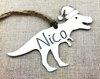 Coworker Gift - Personalized Gift - Christmas Ornament - Dinosaur Christmas Ornament - T Rex Ornament - Dinosaur Ornament - Holiday Gift