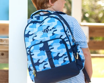 Embroidered Personalized Backpack   Cool Camo