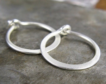 Dew Drops - Tiny Sterling Silver Hoops