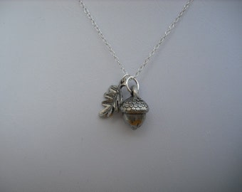 Sterling Silver Chain - a little acorn necklace
