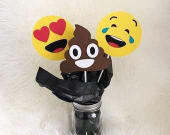 Emoji Centerpiece| Emoji Party| Poop Emoji