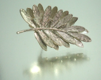 Beautiful Double Layer Leaf Pin Brooch by Art