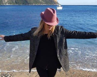 Heather black and white oversized coat/jacket