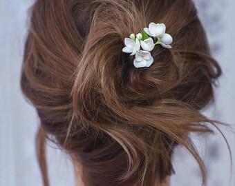 Wedding hair pin, jasmine bridal Hair pins, jasmine Hairpiece, flower hairpiece, Bridal hair stick, wedding hair pieces, floral hair piece