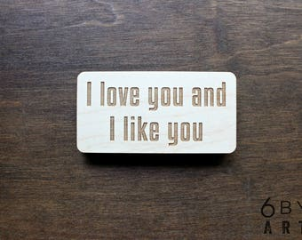 I love you and I like you Magnet | Words of Love | Couples Gifts | Best Friends Gifts |