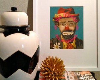 8x10 Print of Vintage Paint By Number PBN Mo Money Clown