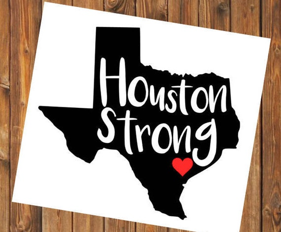 Free Shipping-Hurricane Harvey, Houston Strong, Texas Strong, Relief, Charity, Donation, Flood Support, Yeti Tumbler/Car Window Decal