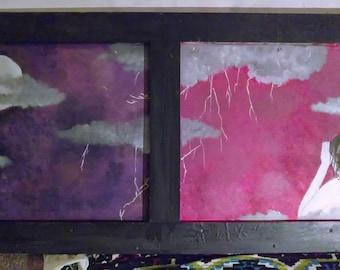 Lightning Storm Panel Painting