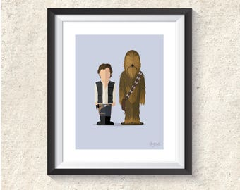 Featureless Portrait - Han & Chewie